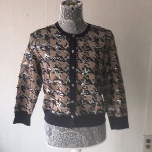 NWT ANN Taylor Sequined Cardigan buttoned Sweater